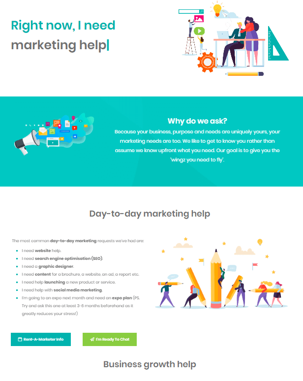 Marketing help and support - Wingz Marketing
